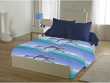 Draps plat Bleu 300x240 54371 - C Design Home