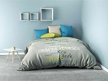 Draps plat Bleu 300x240 C Design Home Textile 62103