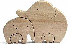 Dreafly Éléphant mère et Enfant Cadeau de fête