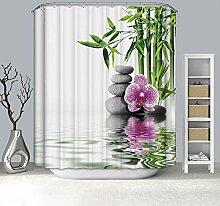 Dreamdge Rideau de Douche 180 x 180 Bambou Vert