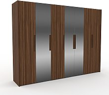 Dressing - Miroir/Noyer, design, armoire penderie
