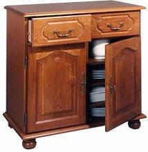 Dressoir 2 portes pleines et 2 tiroirs en chêne -