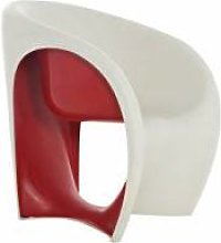 DRIADE fauteuil MT1 (Sable blanc / Rouge -