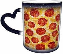 Drôle Pizza Design Magique Sensible À La Chaleur
