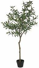DRW Plante Artificielle d'olivier en Vert 155
