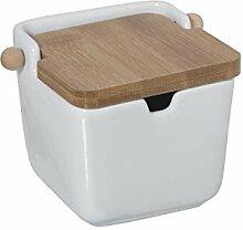 DRW Sucrier original carré en céramique et