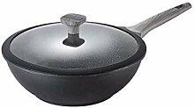 DSFEOIGY Moderne Frying Pan-Wok avec Couvercle en