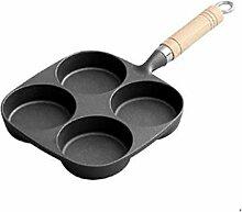 DSFEOIGY Noir Frying Pan à Plusieurs étages