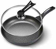 DSFEOIGY Noir Frying Pan-Plat antiadhésifs de