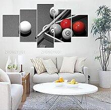 DSGER Impression Toile Murale 5 Panneaux