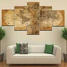 DSY-678 Puzzle de carte du monde Globe Vintage
