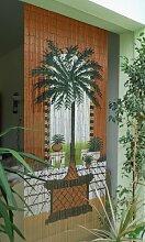 Dubai Rideau de porte en bambou Env. 90 x 200cm