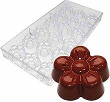 DUBENS 18 cavités de prune, moule à chocolat en