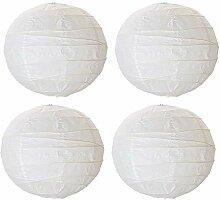 Duel Abat-jour boule en papier de riz blanc, 45