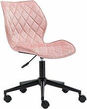 DUHOME Chaise à roulettes en Tissu (Velours) Gris