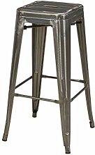 DUHOME Tabouret de Bar en métal/Fer empilable