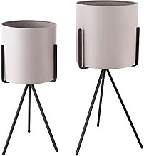 Duo de Cache-Pot Pedestal XL - Gris