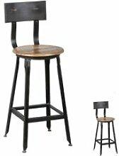 Duo de Chaises de bar basses - JACK - L 34,5 x l