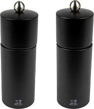 Duo de moulin à poivre et sel noir mat H16cm