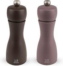 Duo moulins poivre et sel manuels bois café et