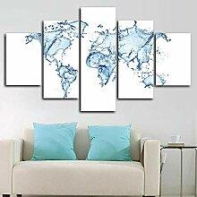 DUODUOQIAN Carte du Monde De l'eau Peinture