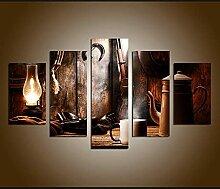 DUODUOQIAN Lampe À Huile Vintage Et Thé Fusil À