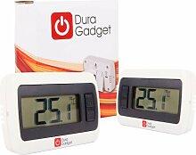 DURAGADGET Lot DE 2 - Thermomètre Digital Blanc