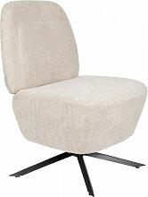 DUSK - Fauteuil Lounge couleur sable blanc