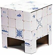 Dutch Design Chair Tabouret, Carton, Dutch Tiles,