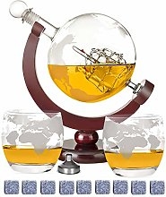 DUTISON Carafe à whisky avec globe et alcool -
