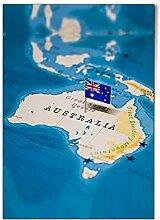 DV DESIGN 1 affiche A1 - Carte du monde de