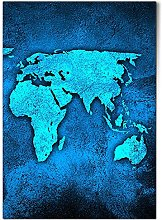 DV design 1 affiche A1 - Carte du monde - Terre -