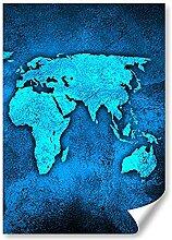 DV DESIGN 1 affiche A2 - Carte du monde - Terre -