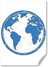 DV DESIGN 1 affiche A2 imprimée - Carte du monde