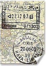 DV DESIGN 1 affiche A3 - Carte du monde avec