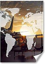 DV DESIGN 1 x Poster A2 – Carte du monde en