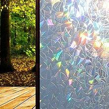 DW007 Film pour Fenetre Anti UV 3D Arc en Ciel