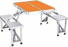 DX Table de camping pliable en aluminium - Table