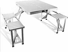 DX Table de camping pliante en aluminium monobloc