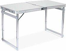 DX Table de camping pliante en aluminium portable