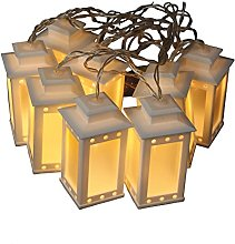 E=M6 5DSA009WW Guirlande 20 Lanternes, Plastique,