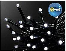 E=M6 5EEX313BC Guirlande 500 LED, Plastique, Blanc