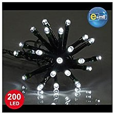E=M6 5EEX334BC Guirlande 200 LED Fil Vert,