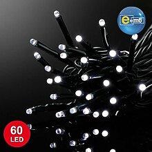 E=M6 5EEX517BC Guirlande 60 LED, Plastique, Blanc