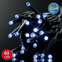 E=M6 5EEX517BL Guirlande 60 LED, Plastique, Bleu