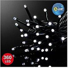 E=M6 5EEX524BC Guirlande 360 LED, Plastique, Blanc