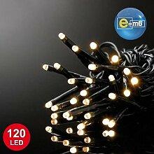 E=M6 5EEX547WW Guirlande 120 LED, Plastique, Blanc