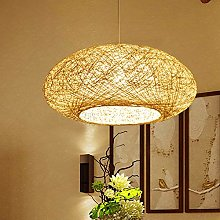 E27 Lampe Suspendue Nid D'oiseau Lustre Rotin