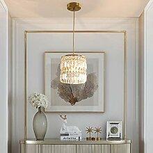 E27 Lustre Moderne Cristal Table Manger Lampe