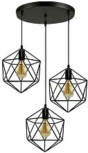E27 Lustre Suspension Industriel forme diamant